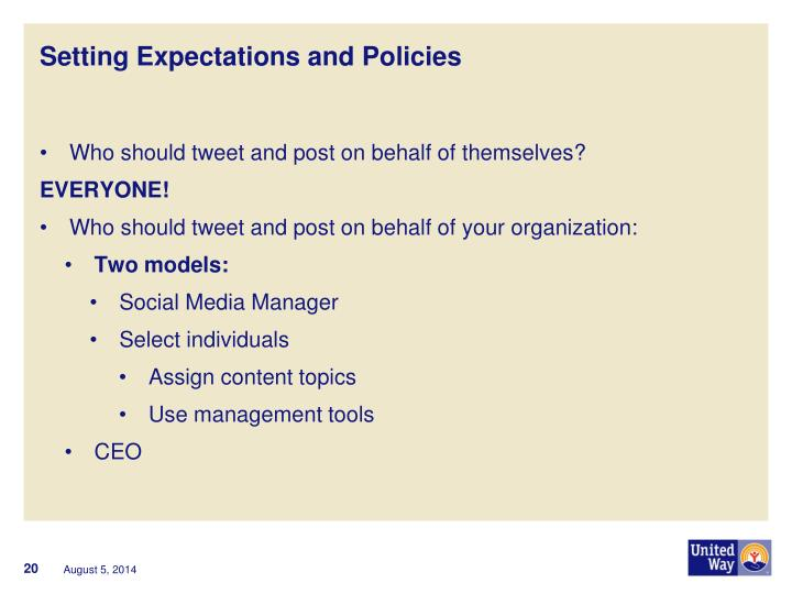 Setting Expectations and Policies