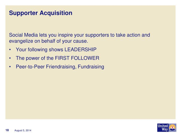Supporter Acquisition