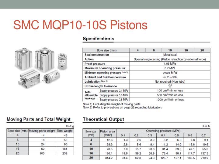 SMC MQP10-10S Pistons