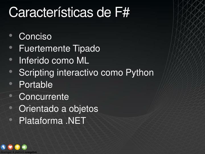 Características de F#