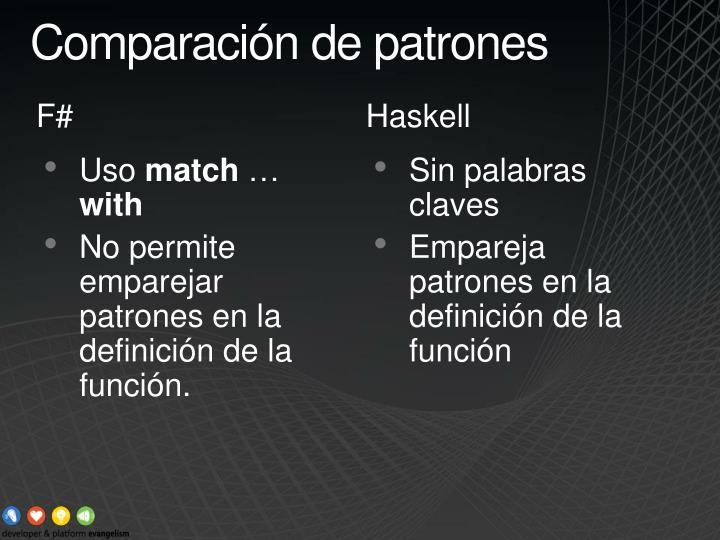 Comparación de patrones