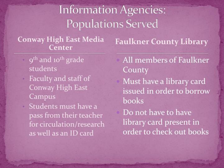 Information Agencies: