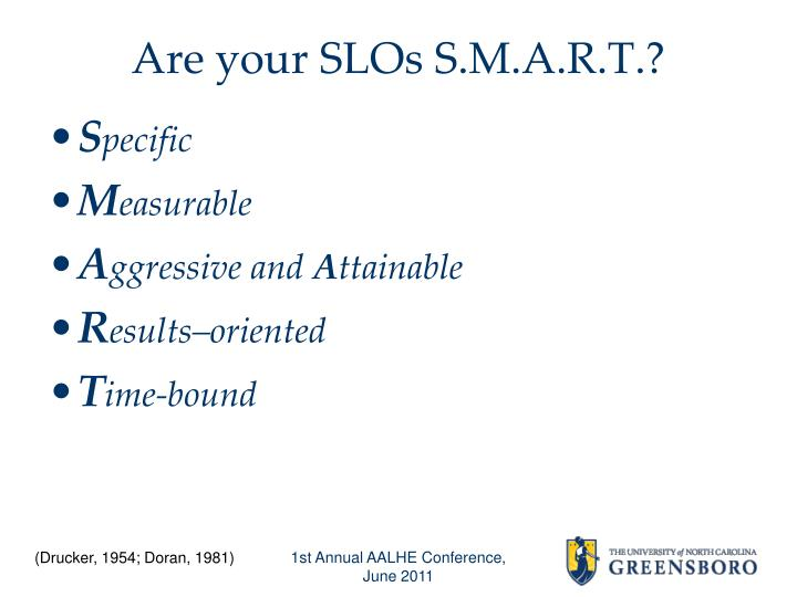 Are your SLOs S.M.A.R.T.?