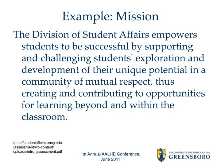 Example: Mission