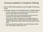 common problems in academic writing1