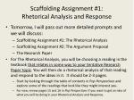 scaffolding assignment 1 rhetorical analysis and response