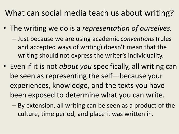 What can social media teach us about writing?