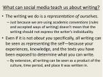 what can social media teach us about writing
