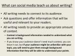 what can social media teach us about writing1