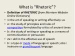 what is rhetoric