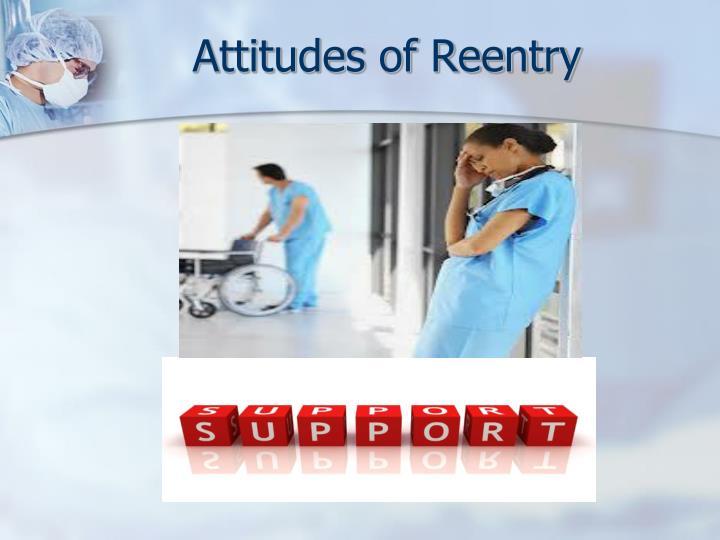 Attitudes of Reentry