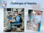 challenges of reentry