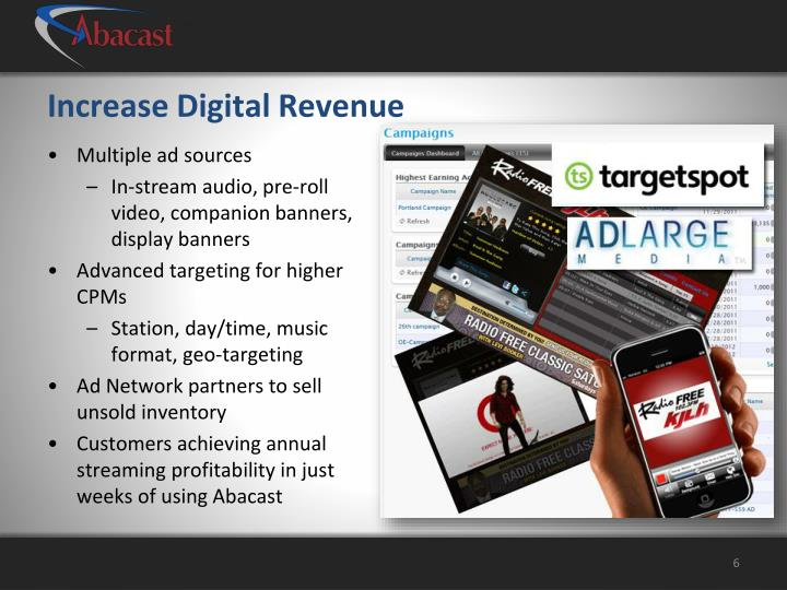 Increase Digital Revenue
