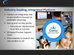 industry leading integrated platform