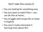 don t take this course if