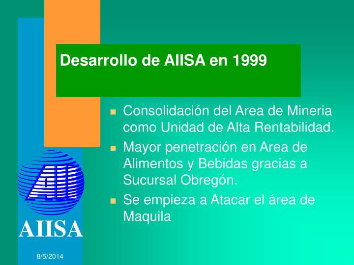 Desarrollo de AIISA en