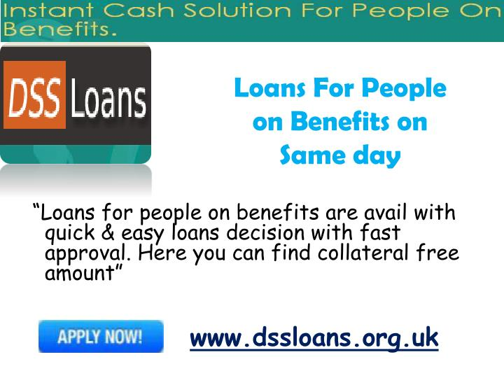 Loans For People on Benefits on Same day