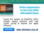 online application to get cash with affordable rates