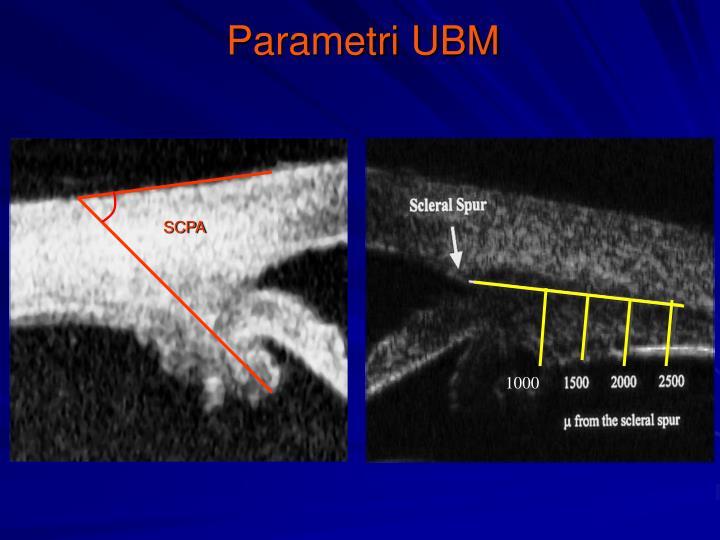 Parametri UBM