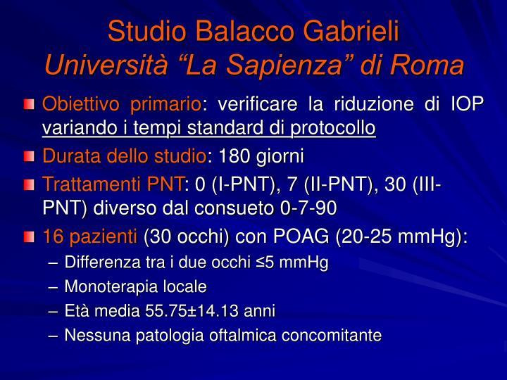 Studio Balacco Gabrieli