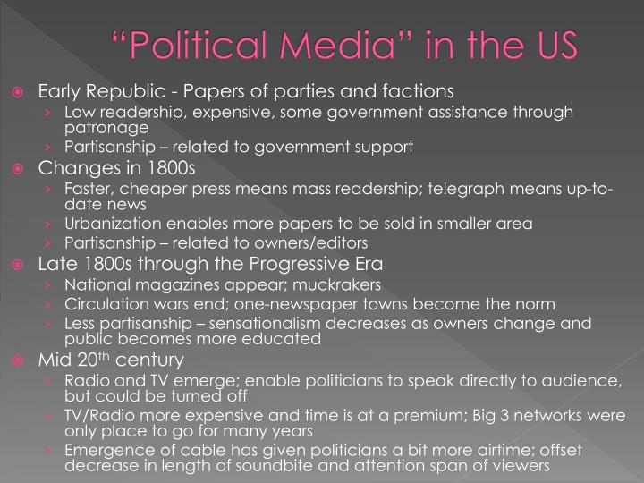 """Political Media"" in the US"