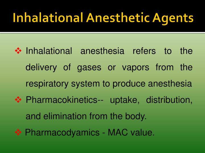Inhalational Anesthetic Agents
