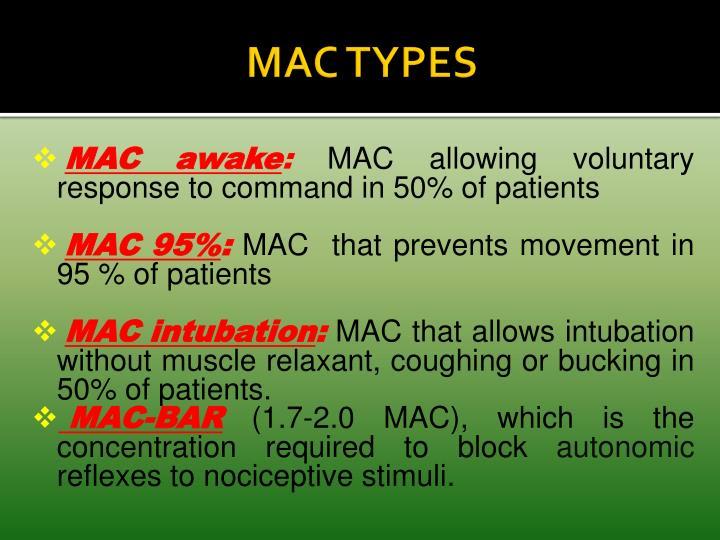 MAC TYPES
