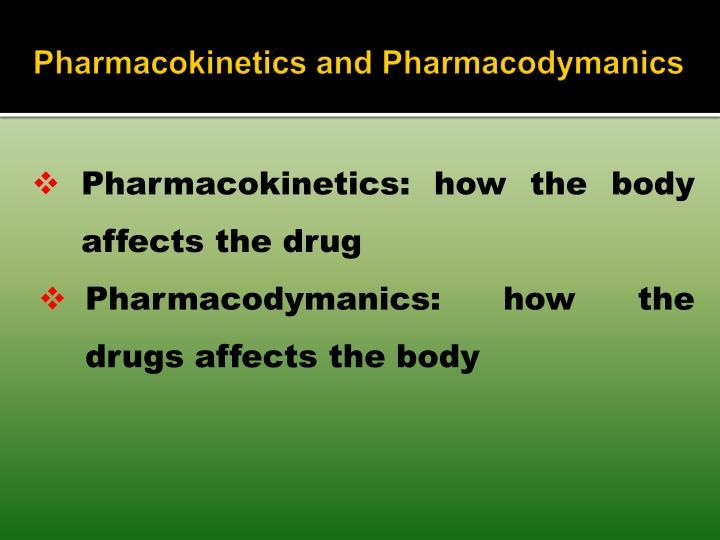 Pharmacokinetics and