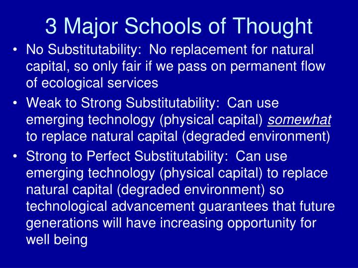 3 Major Schools of Thought