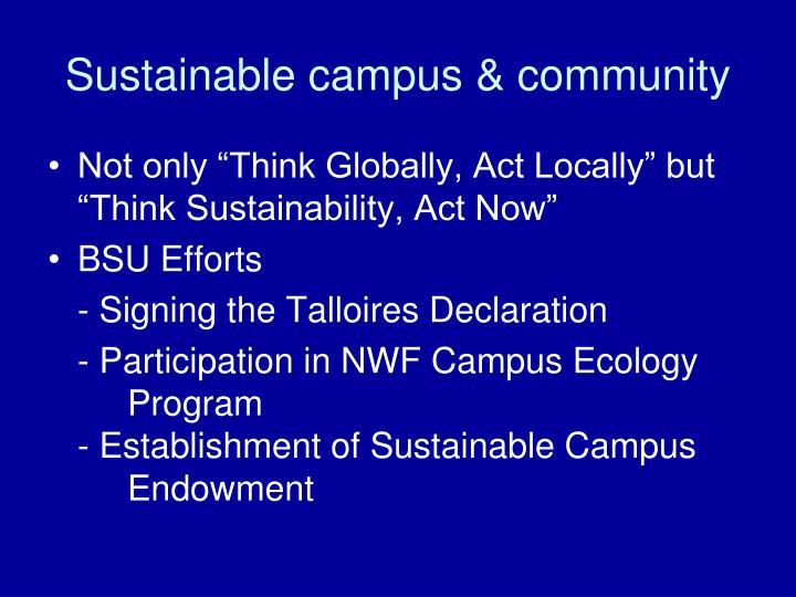 Sustainable campus & community