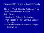 sustainable campus community