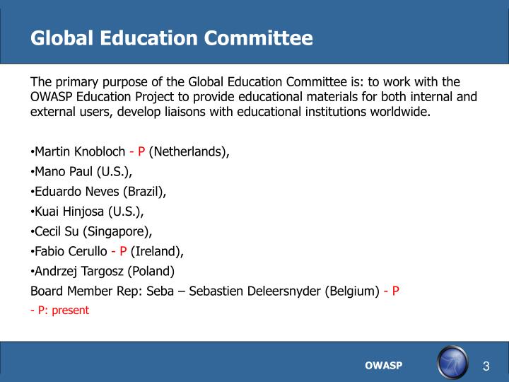 Global Education Committee