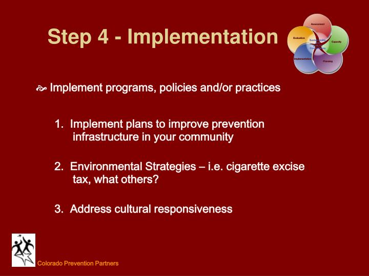Step 4 - Implementation