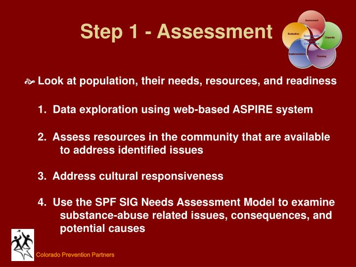 Step 1 - Assessment
