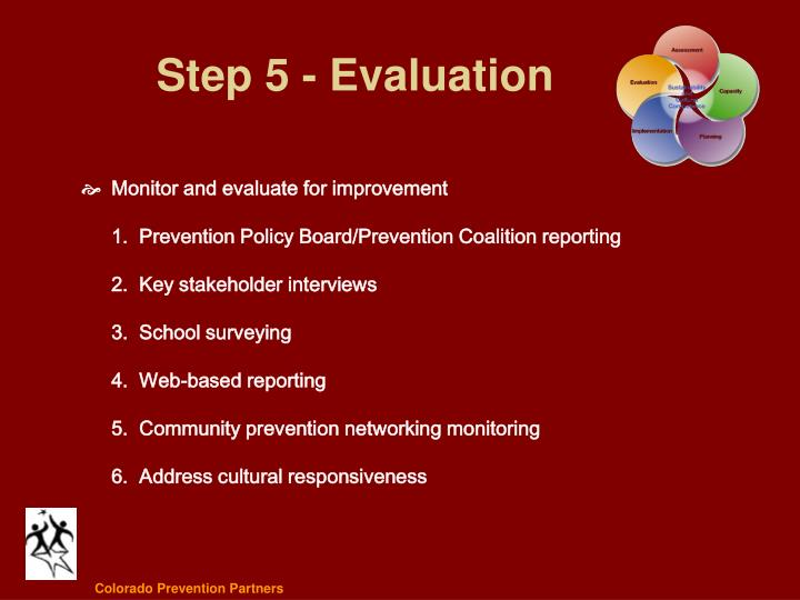 Step 5 - Evaluation