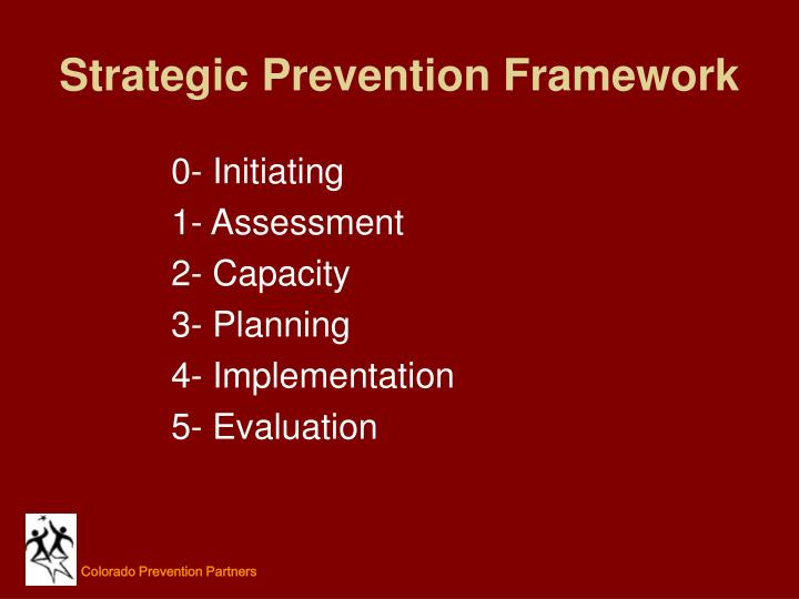 Strategic Prevention Framework