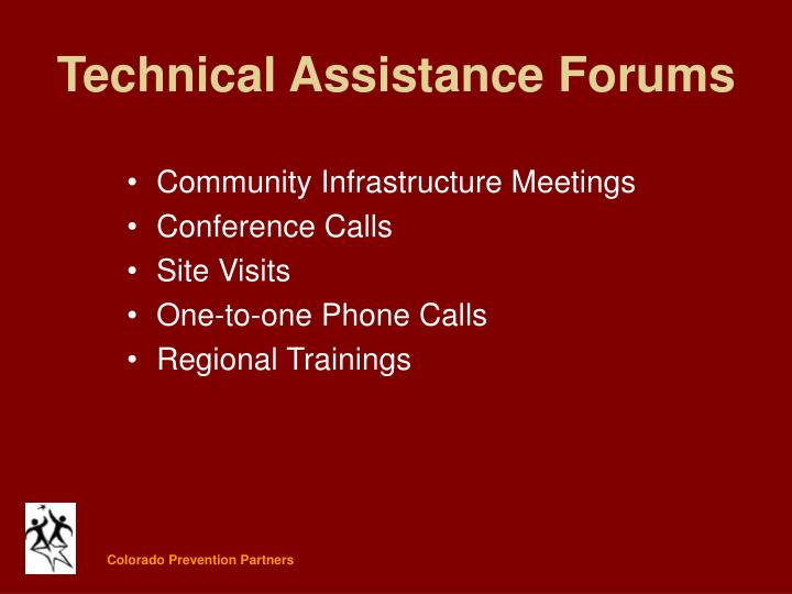 Technical Assistance Forums