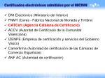certificados electr nicos admitidos por el micinn