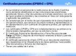 certificados personales cpisr c cpx