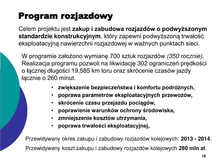 Program rozjazdowy
