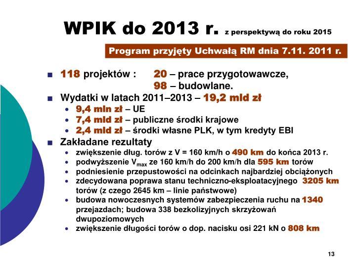 WPIK do 2013 r.