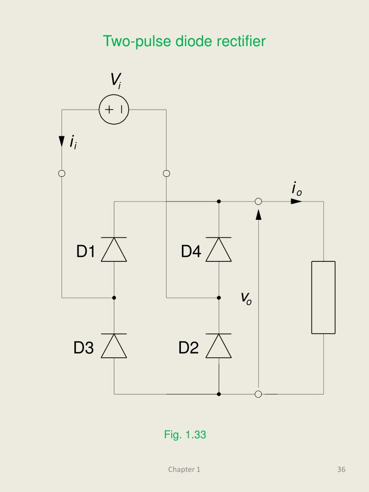 Two-pulse diode rectifier
