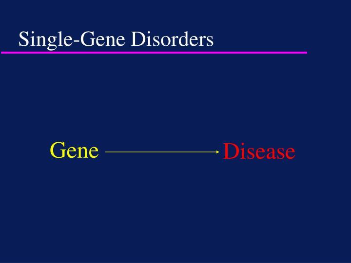 Single-Gene Disorders