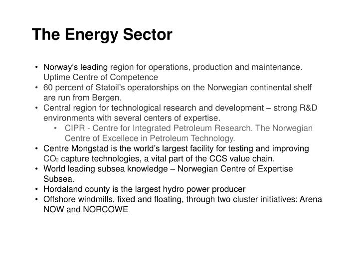 The Energy Sector