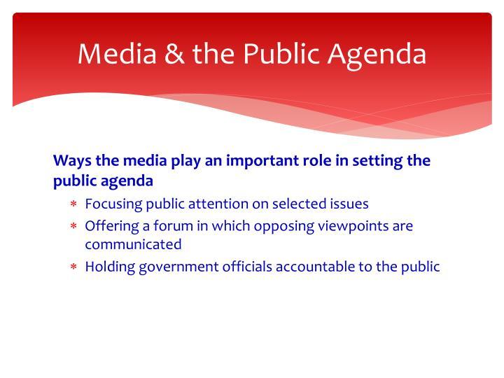 Media & the Public Agenda