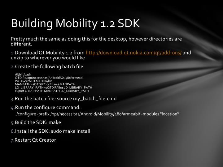 Building Mobility 1.2 SDK