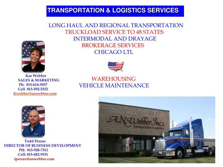 TRANSPORTATION & LOGISTICS SERVICES