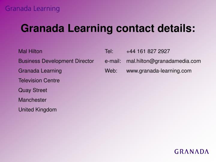 Granada Learning contact details: