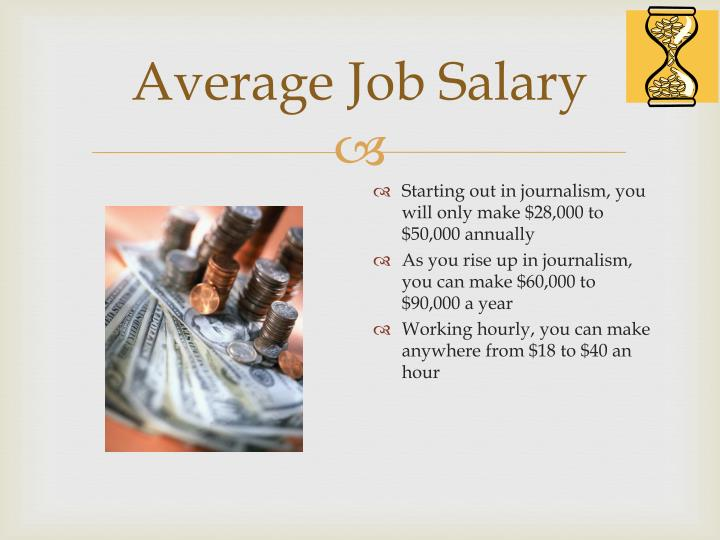 Average Job Salary