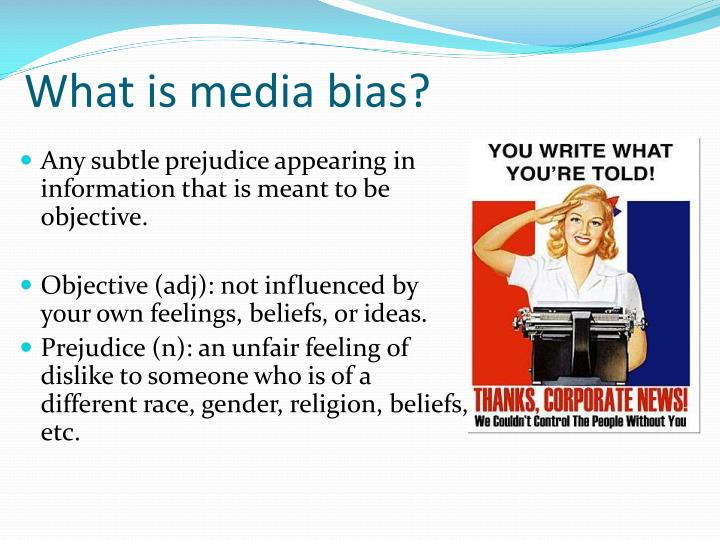 What is media bias?